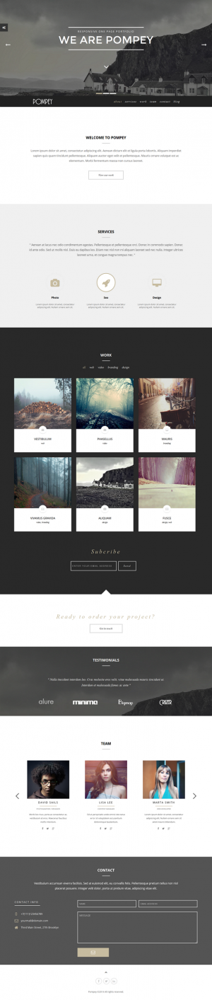 Pompey is a fully responsive template built to showcase your top-notch portfolios. This template ...