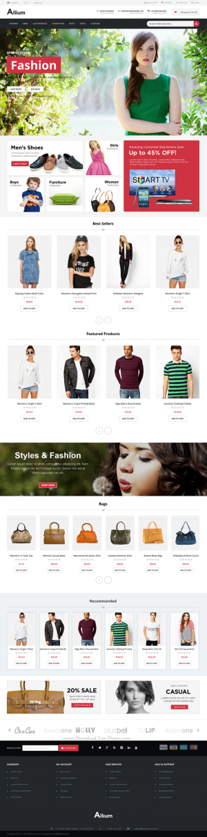 Allium is an all purpose responsive Magento theme designed for online stores, fashion stores, gi ...