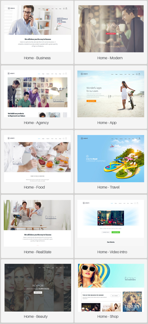 Extent is a premium, fully responsive, Retina-Ready WordPress blog theme with a minimal, clean d ...