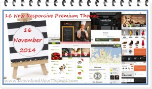 16 New Responsive Premium Themes (16 Nov 2014)