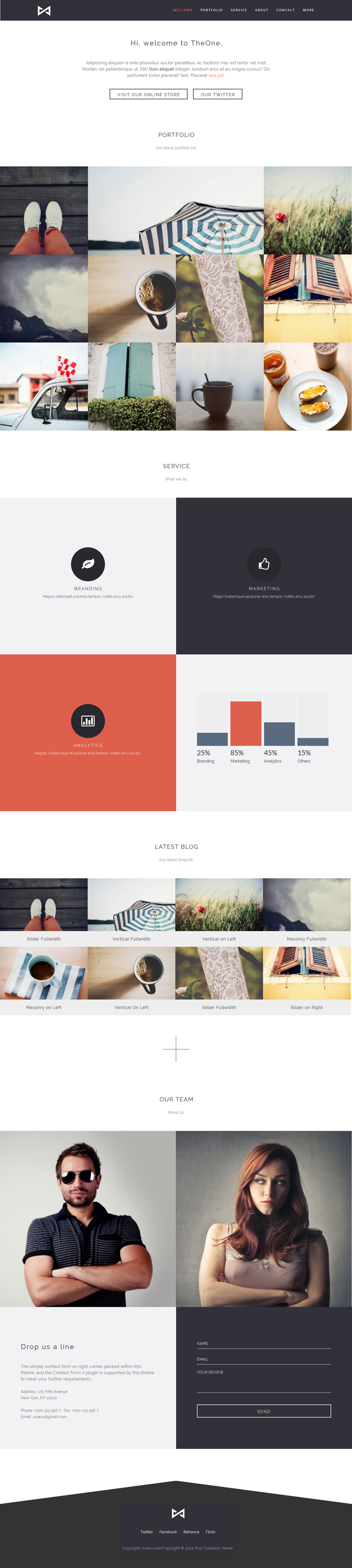 THEONE is a responsive & retina portfolio OnePage HTML theme for the professional creative.