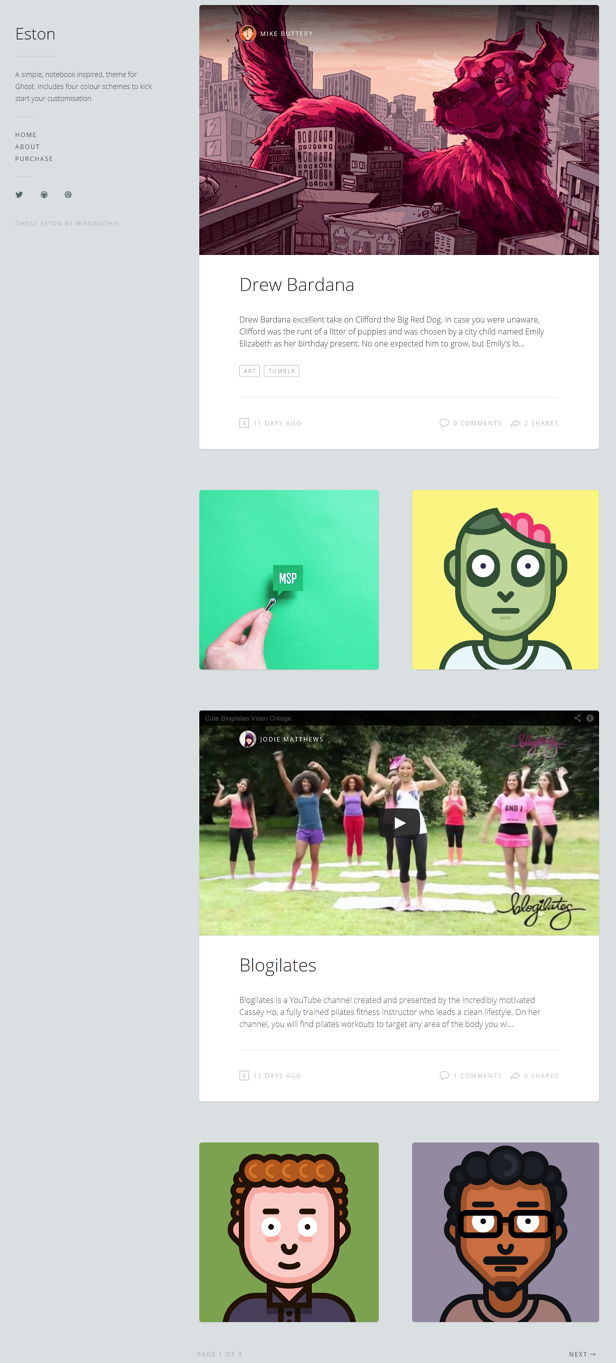 A simple, notebook inspired, theme for Ghost. Includes four colour schemes to kick start your cu ...