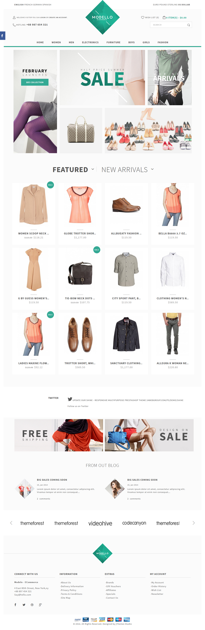Modello is a responsive multipurpose Stylish OpenCart theme which is fully customizable and suit ...