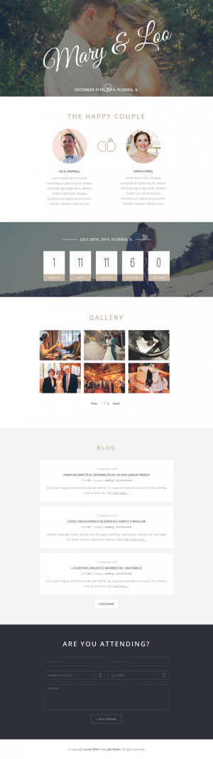 Monument is a beautiful, clean, minimal, one-page and responsive WordPress theme for wedding.