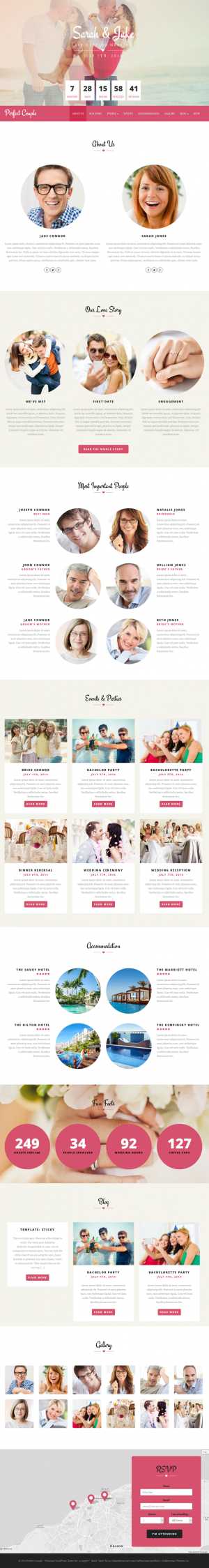 Perfect Couple is a nice and responsive WordPress theme for wedding, engagement or other events ...