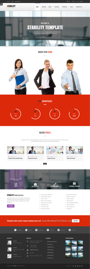 Stability is a clean, multipurpose and responsive WordPress Theme. It is suitable for your corpo ...