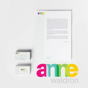 #Stationery Set Designed for Anne Waldron – #Branding #print #identitydesign #logodesign