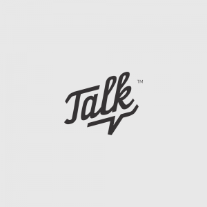 Talk logo with a subtle speech bubble
