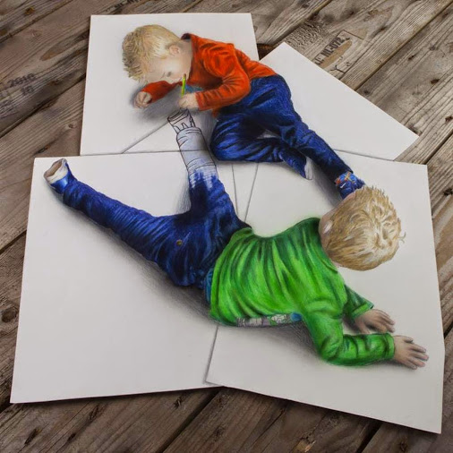 Stunning 3D Pencil Drawings That Come Alive Before Your Eyes