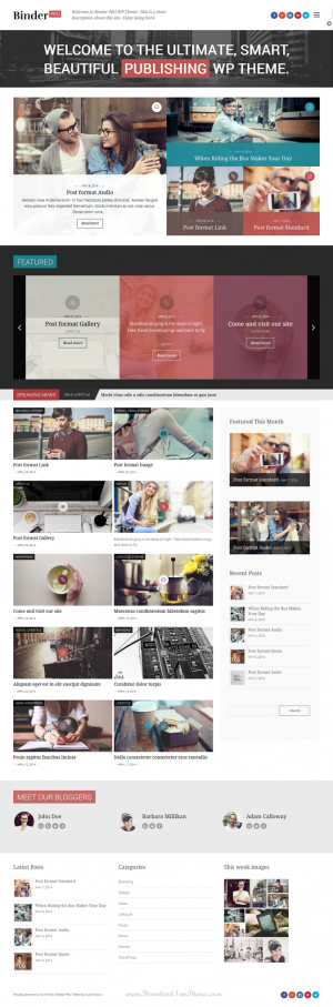 Binder PRO is a smart publishing WordPress theme designed to let you build beautiful magazines, ...
