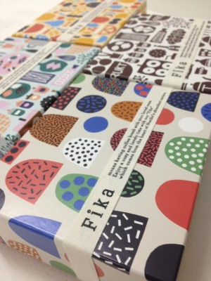 Hanna and Leena made packaging design for Isetan department store's new Fika Scandinavian deli i ...