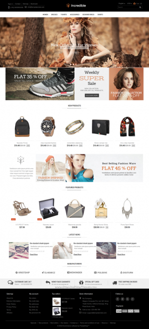 Incredible Prestashop Responsive Theme is designed for fashion designer, apparel, Shoes, beauty, ...
