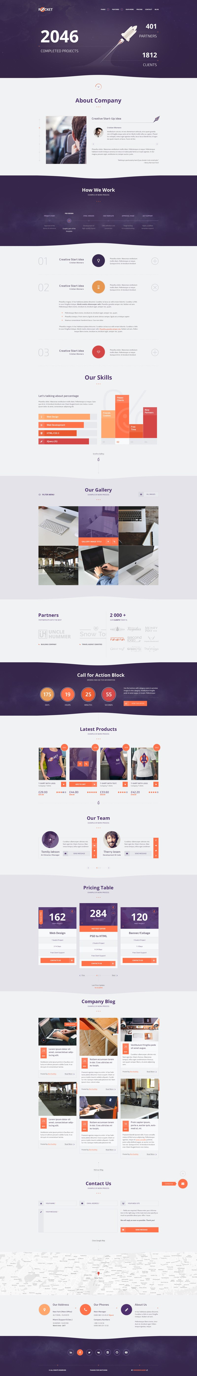 Rocket Creative Multipurpose Template