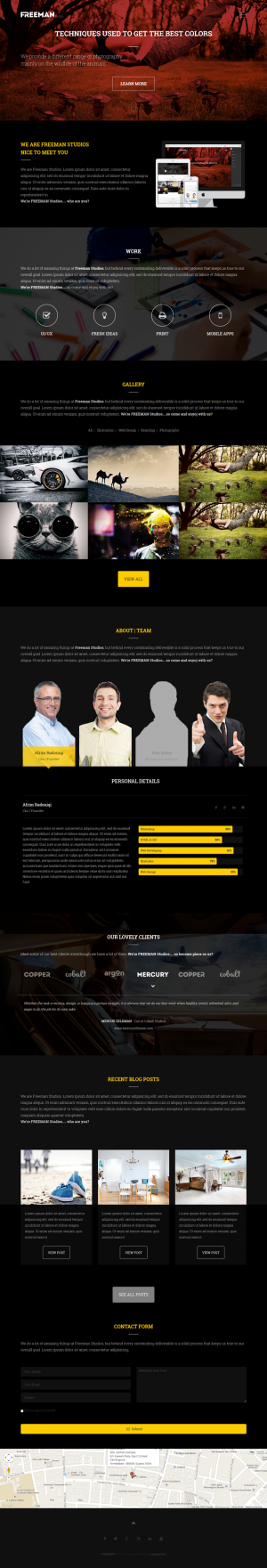 Freeman is a Multipurpose One Page Joomla Theme featuring clean and retina ready design suitable ...