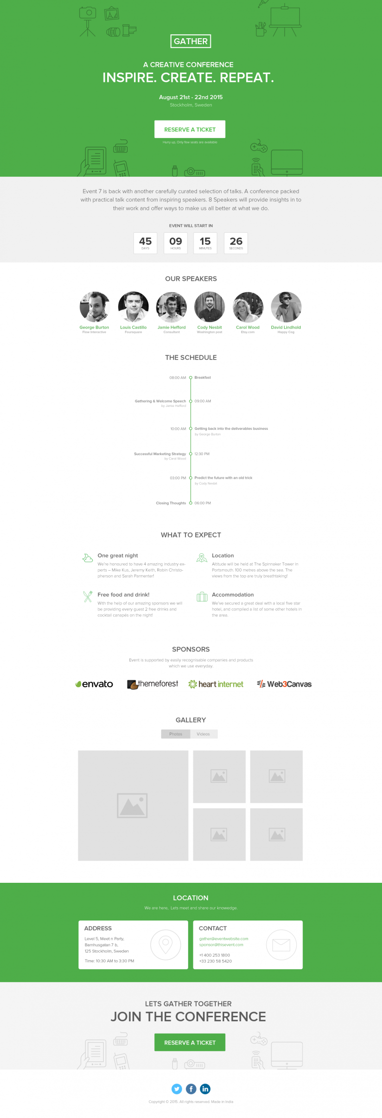 Gather – Pagewiz Event Conference Meetup Template