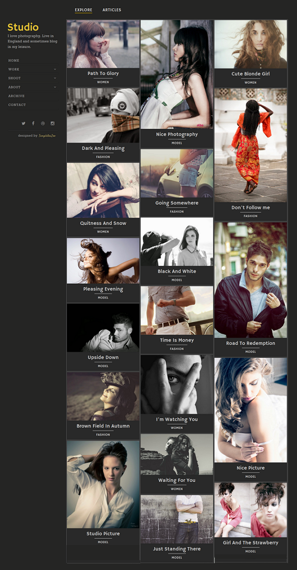 Studio Blogger Template is designed for photographers and picture studios. It presents your awes ...