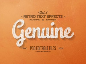 Retro Text Effects – Genuine