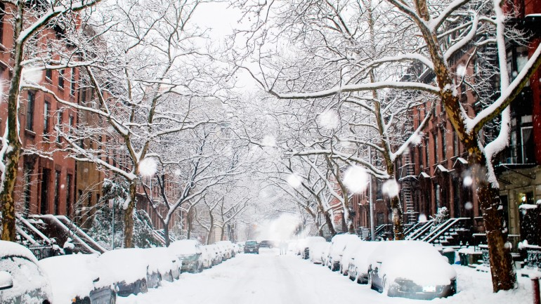 Snowy Winter Street Road – Photography Wallpapers