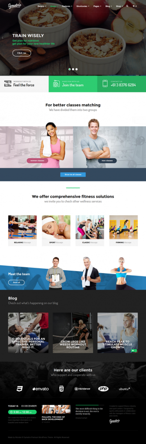Symetrio is ready to use multipurpose responsive sports website WordPress Theme. This theme is p ...