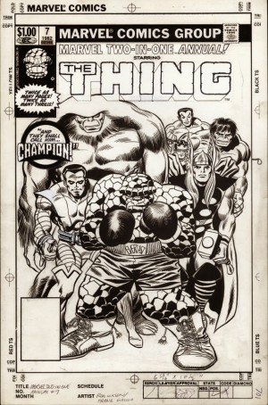 1982 – Anatomy of a Cover – Marvel Two-In-One Annual #7by Ron Wilson and Frank Giacoia