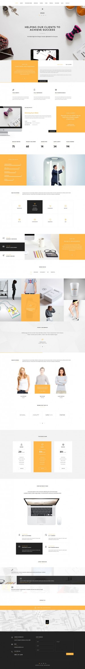 Enax – One Page MultiPurpose Parallax