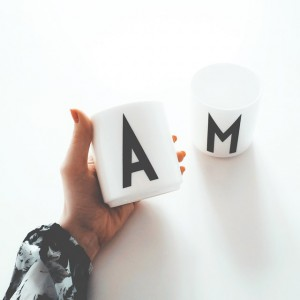 Letter Mugs by Arne Jacobsen