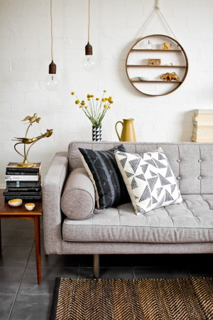 Monochrome, timber & mustard – experimenting with styling