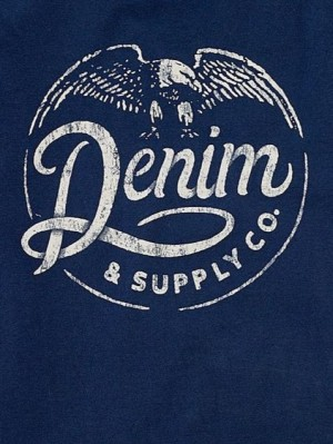 Rustic and grungy stamped logo for Denim & Supply Co.