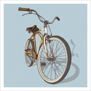 Bicycle illustration trilogy – 02 – Beach by Studio Epitaph