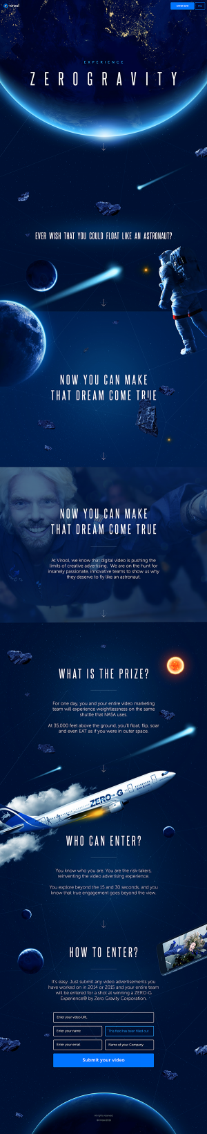 Zero Gravity Website by Serge Vasil