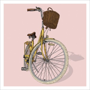 Bicycle illustration trilogy – 03 – Lady by Studio Epitaph