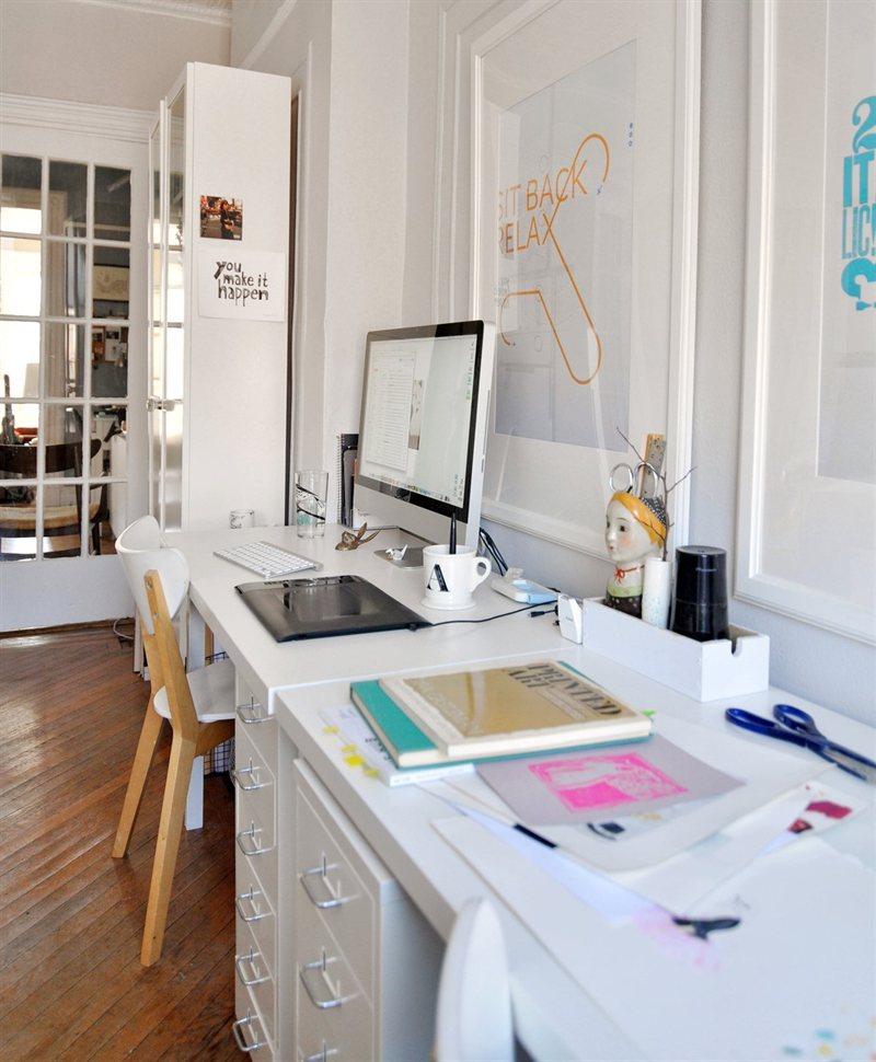 Making a creative workspace at home