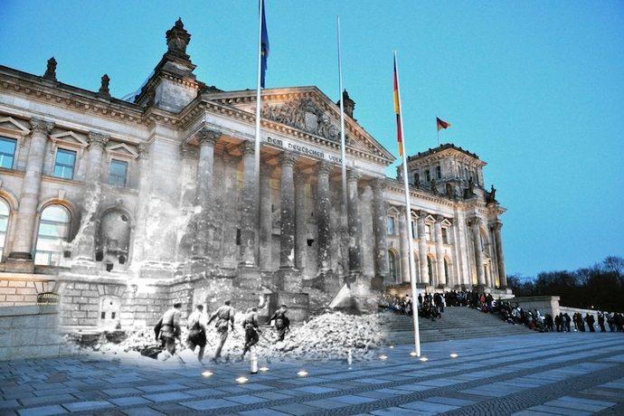 STORMING THE REICHSTAG