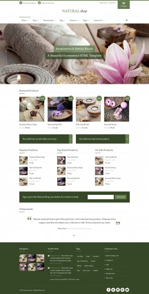 Best Responsive eCommerce HTML Template