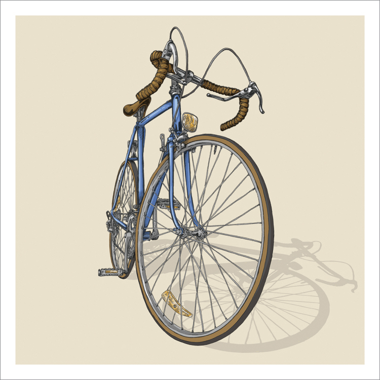 Bicycle illustration trilogy – 01 – Road by Studio Epitaph