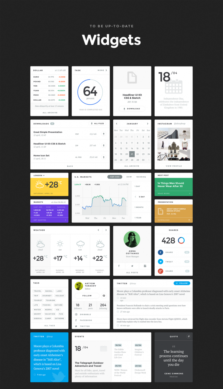 Baikal UI Kit – Great Simple UI Bundle