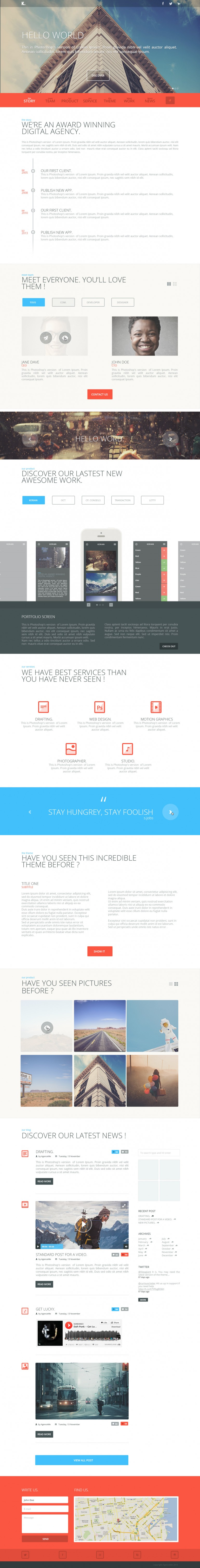 K. Responsive One Page Template