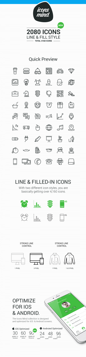 Line & Fill Style icons set
