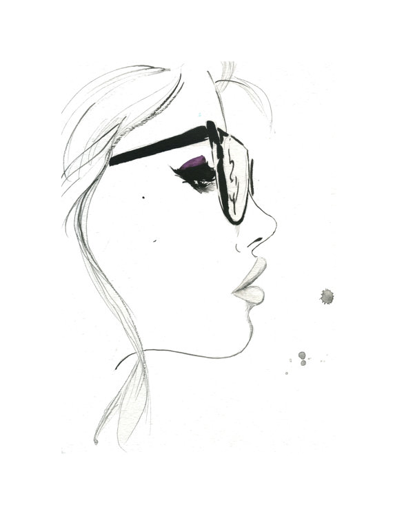 That Nerdy Girl Print from original by JessicaIllustration