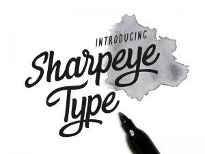 Sharpeye TypeSay Hello to Sharpeye! An irregular shaped hand drawn font . The hand drawn style ...