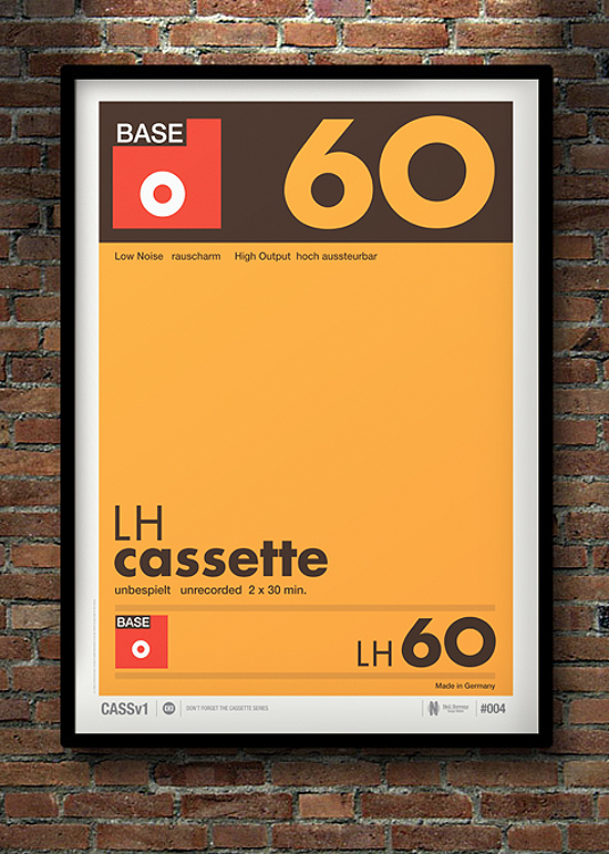 Don't Forget the Cassette: Posters by Neil Stevens | Inspiration Grid | Design Inspiration