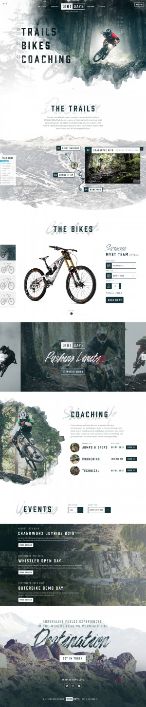 Dirtdays Website Concept