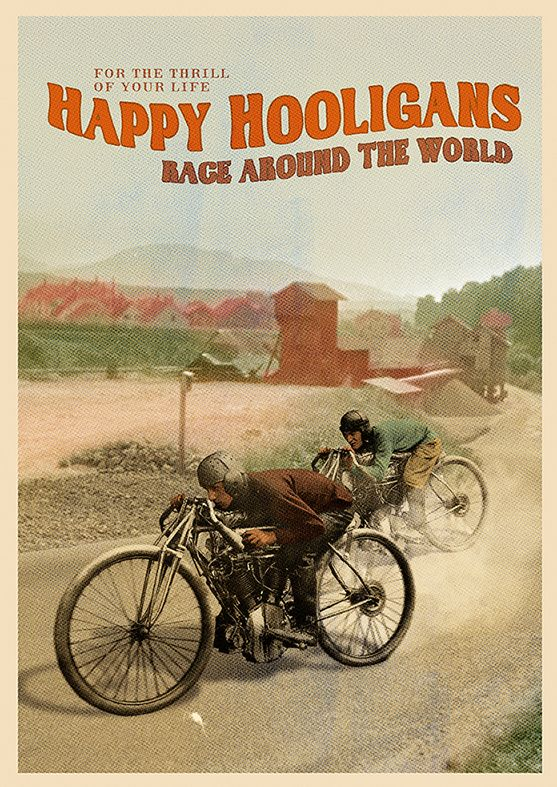Happy HooligansBeautiful vintage poster with editable text.