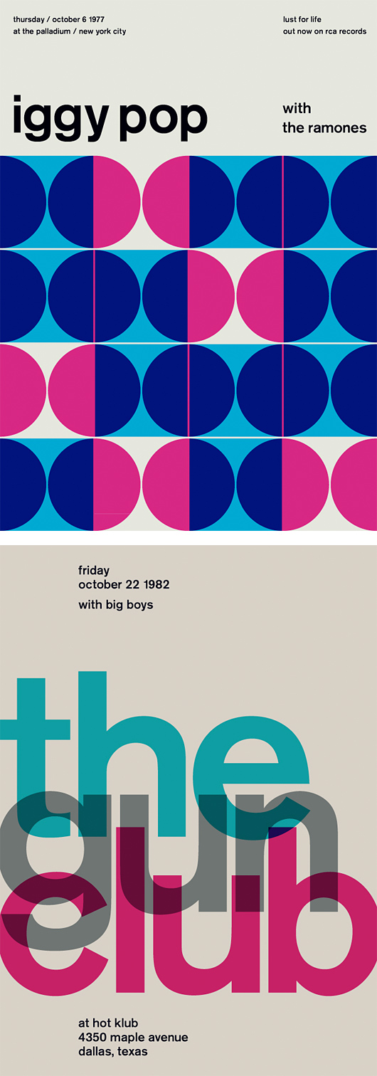 Swissted: Rock Posters by Mike Joyce | Inspiration Grid | Design Inspiration