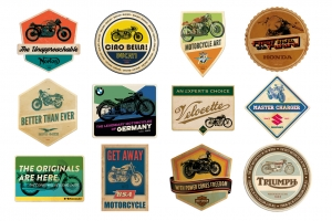 Retro Motorcycle Badges