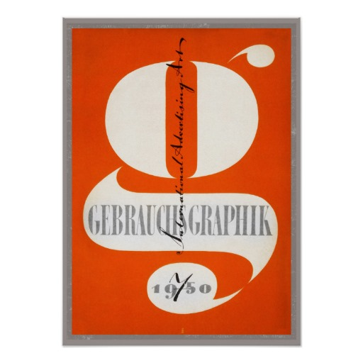 Vintage art print, Design journal cover typography