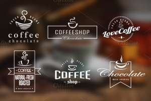Coffee Retro Badges, Labels & Logos ~ Logo Templates on Creative Market