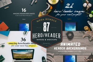 MEGA BUNDLE – 87 Hero/Header images