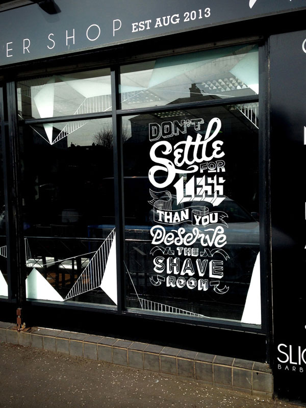Slick's Barbershop typography by Craig Black