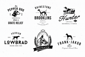 Dog Kennel Logo Badges ~ Logo Templates on Creative Market